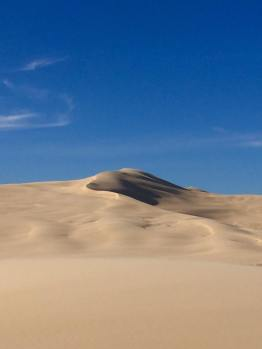 These sand dunes were much bigger in real life