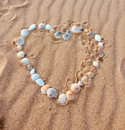 My little artwork on beach
