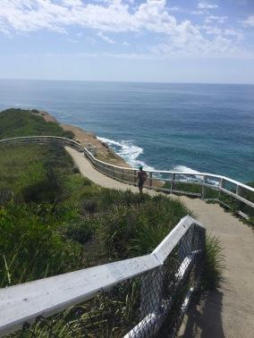 The long winding walkway
